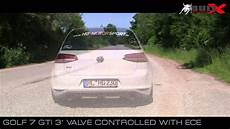 golf 7 gti 3 quot exhaust sound valve controlled ece system