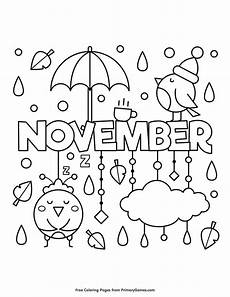 November Malvorlagen Quotes November Coloring Page Free Printable Ebook Fall