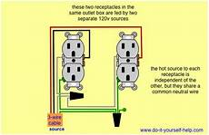 Two Receptacle Outlets In One Box Separate Source