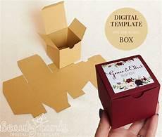 gift box template diy svg square box wedding favor box party favor box shower favor box