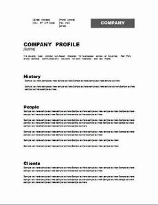 business profile templates 16 free word excel pdf