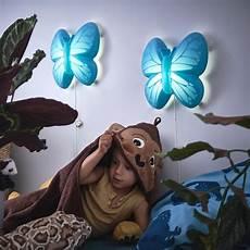 upplyst led wall l butterfly light blue ikea