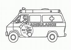 ambulance coloring page for transportation coloring