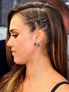 treccia attaccata alla testa laterale treccia di lato capelli
