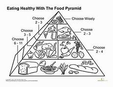 food pyramid worksheet education com