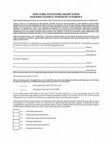 new york durable general immediate power of attorney legal forms and business templates