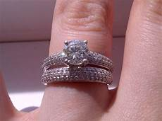 engagement ring wedding band which way to wear it show me your wedding set