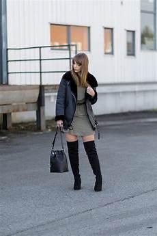 kleid stiefel kombinieren overknee stiefel 3 outfitideen shoelove by deichmann