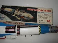 nomura japan l 38 centimetres sheet metal plastic apollo rocket with battery