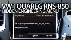 How To Enter Engineering Menu In Rns 850 Vw