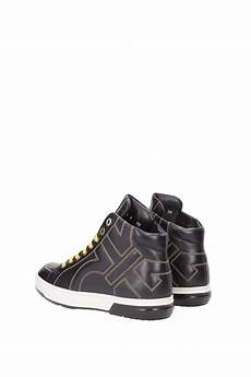 sneakers salvatore ferragamo leather black