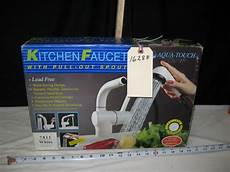 aqua touch kitchen faucet new in the box