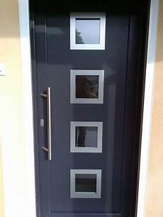 porte exterieur pvc 73371 porte pvc gris anthracite mod 232 le romarin par la menuiserie barth porte entree pvc
