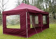 Partyzelt 3x6 Wasserdicht - profi faltpavillon partyzelt 3x6 m terracotta mit