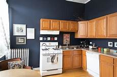 this is how to deal with honey oak cabinets paint the walls midnight blue honey oak cabinets
