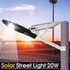 mising 20w solar led street light l with pole solar