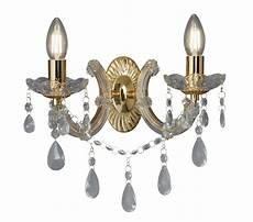 searchlight marie therese 2 light wall light polished brass finish with barley twist arms