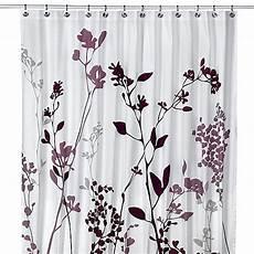 Reflections Purple Fabric Shower Curtain reflections purple fabric shower curtain bed bath beyond