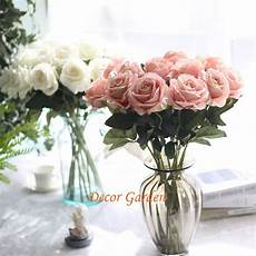 real touch fake artificial silk rose flowers for diy