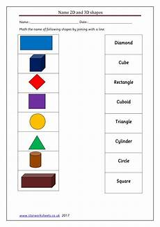 2d shapes worksheets year 1 1335 year 1 match 2d and 3d shapes names worksheet worksheets
