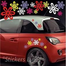 adesivi fiori per auto kit adesivi fiori mod 8 60 pezzi smart fiat 500 auto