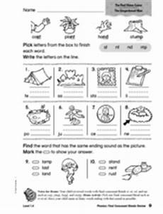phonics final consonants blends review worksheet for 1st 2nd grade lesson planet