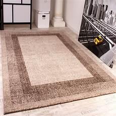 velours kurzflor teppich winchester modern mit bord 252 re