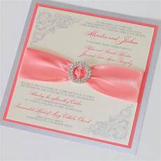 Coral And Ivory Wedding Invitations