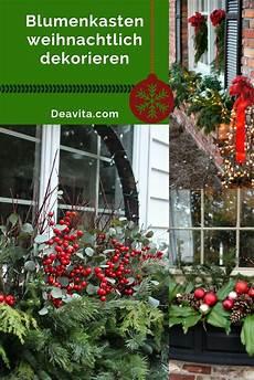 Blumenkasten Weihnachtlich Dekorieren 17 Inspiration Und