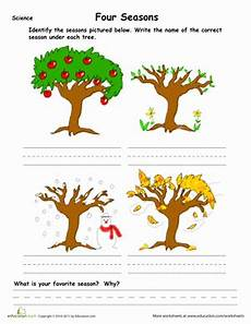 Learn The Four Seasons Worksheet Education