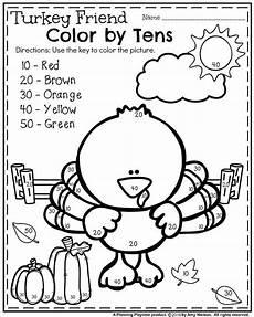 november color by number worksheets 16214 fall kindergarten worksheets for november kindergarten worksheets kindergarten activities
