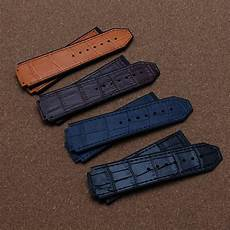 Color Genuine Leather Silicone by 25mm Lug 19mm Watchband Genuine Leather Silicone Rubber