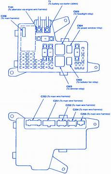 2001 Honda Accord Fuse Box Map by Honda Accord Ex 4 1994 Fuse Box Block Circuit Breaker