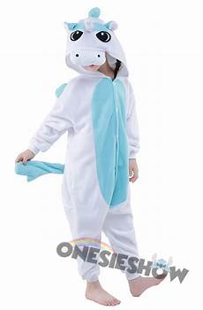 blue unicorn onesie kigurumi polar fleece animal