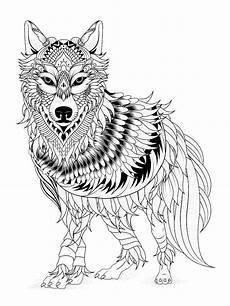 Malvorlagen Wolf Ausmalbilder Tiere Mandala Wolf