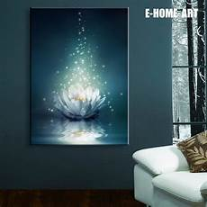 stretched canvas prints white lotus the water led interstellar print led wall art led