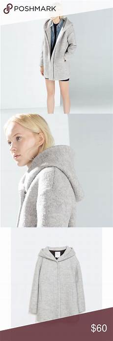 Contemporary Cocoon modern grey wool cocoon coat with modern grey wool