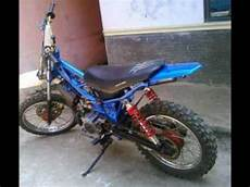 Modifikasi Motor Trail Bebek Standar by Motor Bebek Yamaha 2tak F1zr Modif Trail Gasstrack