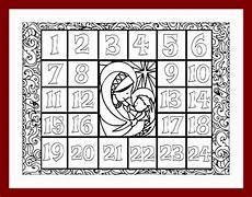 Malvorlagen Advent Calendar Coloring Advent Calendar Printable Pdf