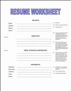 resume building worksheet for high school students 1000 school teaching resume sles