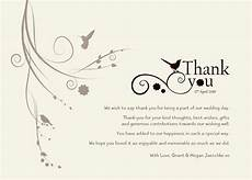 thank you cards template wedding back damsel design wedding quot thank you quot cards
