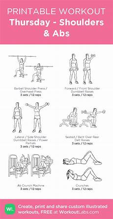 ab work sle exercises and descriptions thursday shoulders abs illustrated exercise plan