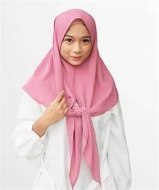 Jilbab Instan Segi Empat Voal Motif