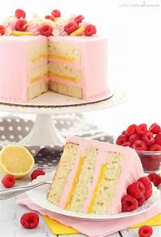 Himbeer Quark Kuchen - lemon raspberry layer cake and sugar