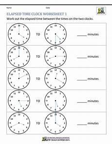 time worksheets 15580 elapsed time worksheets