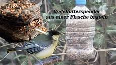 Vogelfutterspender Aus Einer Flasche Basteln
