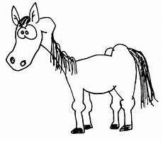 ausmalbilder pferde lustig pferd wuschels malvorlagen