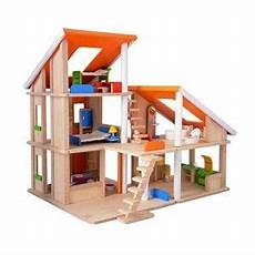 plan toy chalet doll house with furniture doll house plan toys wooden dollhouse doll house