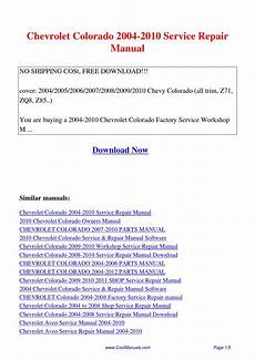 free online car repair manuals download 2008 chevrolet uplander interior lighting chevrolet colorado 2004 2010 service repair manual pdf by guang hui issuu
