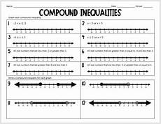 compound inequalities practice worksheet by davenport tpt